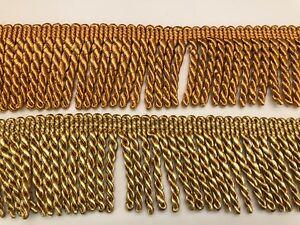 8cm wide deep gold bullion fringe, 12metre pack