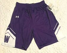 UNDER ARMOUR Northwestern Wildcats Fury Basketball Shorts 1300358 Mens Size L