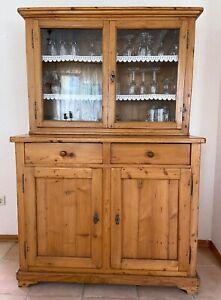 Antikes Küchenbuffet, Weichholz, restauriert, Landhaus, Vintage-Charme