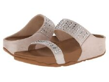 NEW FITFLOP 'NOVY' SLIDE WOMEN SANDAL SIZE 8 /NUDE GREAT GIFT IDEA~