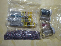 SMALL LOT OF CRAFT GLITTER - VARIOUS COLORS - TWO SHAKERS