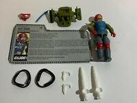 1987 Hasbro GI Joe Cobra FAST DRAW Complete With File Card Cracked Elbow
