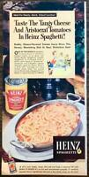1952 Heinz Cooked Spaghetti PRINT AD Taste Tangy Cheese and Aristocrat Tomatoes