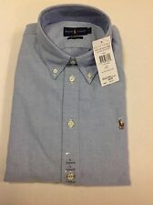 Ralph Lauren Harper custom fit Long Sleeve Blue Ladies Women's Shirt, XL