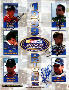 1999 NASCAR Busch Series drivers 32 original hand signed autographs