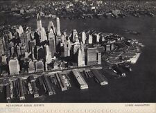 Photogravure - 1935 - Mc Laughlin - Aerial surveys - Lower Manhattan