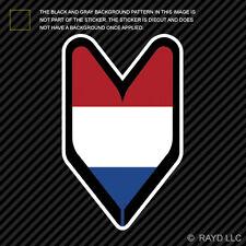 Dutch Driver Badge Sticker Die Cut Decal wakaba leaf soshinoya Netherlands NLD