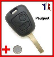 Coque PLIP Télécommande Clé Pour Peugeot 106 107 207 307 + Pile Bouton