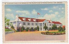 Golf Country Club Hot Springs Arkansas linen postcard