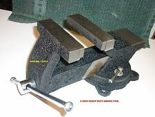 BENCH VICE HEAVY DUTY 4 INCH JAW WITH SWIVEL BASE AND ANVIL- NEW IN BOX