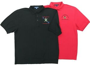 "Lot of (2) National Society of Black Engineers Men 2XL 51"" Polo Shirts SBE Black"