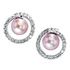 Unbehandelte Perlen-Ohrschmuck im Ohrstecker-Stil aus Weißgold mit echten