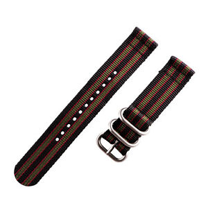 2 Piece Heavy NATO 3 Ring Nylon Replacement Watch Band