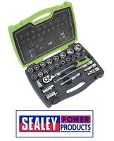 """Sealey Socket Set 26pc 1/2""""Sq Drive 6pt WallDrive® Metric AK7961"""