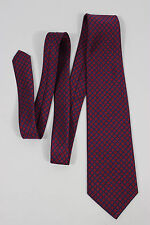 Brooks Brothers 346 Red Blue Geometric Print Men's Neck Tie Pure Silk Made N USA