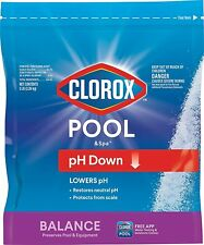 Clorox Pool & Spa 5 lb Reduces Down pH Levels Swimming Pool Salt Hot Tub Balance