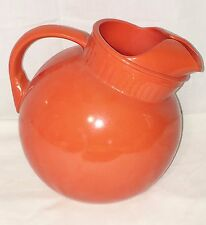 "Anchor Hocking Fire King RAINBOW RED/ORANGE *7"" WATER BALL JUG/ PITCHER*"