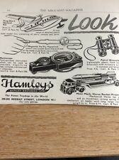 M9-1 Ephemera 1958 Advert Hamleys Toys Rocket Projector Yo Yo