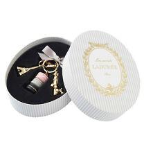 LADUREE Japan ❤ Bag Chain Key Ring Macaron Parisienne Rose Gray w/ Box Lady Dog