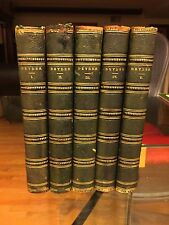 Poetical Works of John Dryden 1859 Little/Brown 5vol Leather Bound Raised Spines
