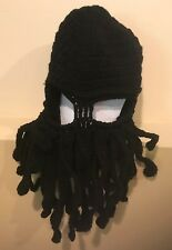 Black Beard Mask Hat Hand Made Adult Size Halloween Costume