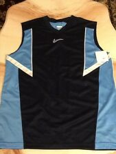 Nwt Nike Boys Basketball Sleeveless Shirt Size L Blue and Navy