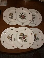 """6 WEDGWOOD  """"ROBERT SPRAYS  TK203"""" 6 1/2"""" bread and butter plates"""