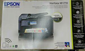 Epson WorkForce WF-7710 Inkjet Multifunction Printer - Sublimation Ready w/ CISS