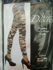 Ladies  Footless Camouflage Army Tights military Fancy Dress- GI JANE-COMBAT