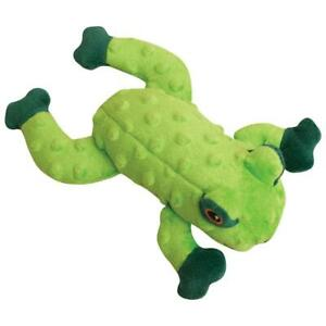 """SnugArooz LILLY THE GREEN FROG 10"""" Plush Crinkle Squeaker Toy for Dogs Pups"""
