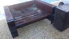 Electric Forced Air Fan + Cast Iron Fire Grate Heater Open Fire Vintage  Unusual