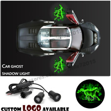 Auto Car Door Green Fire Flaming Horse Logo Welcome Projector Shadow Ghost Light