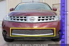 GTG Polished 1PC Overlay Bumper Billet Grille fits 2003 - 2008 Nissan Murano