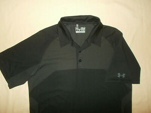 UNDER ARMOUR HEAT GEAR SHORT SLEEVE BLACK GOLF POLO MENS SMALL EXCELLENT COND.