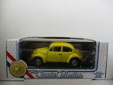 1/18 SCALE ROAD TOUGH CLASSIC COLLECTION YELLOW 1967 VOLKSWAGEN BEETLE