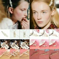 9 Styles Girls Pearl Hair Clip Snap Barrette Stick Hairpin Hair Accessories Gift