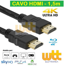 CAVO HDMI 1,5 metri 4K 1080p SPINA-SPINA 19 POLI 1.4 HIGH SPEED WITH ETHERNET
