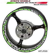 Stickers for wheels bike universal 17 inch Neon Green