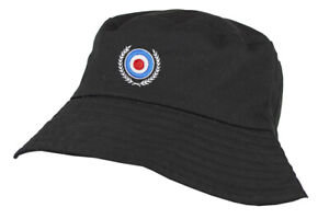 Mod Target Embroidered 100% Washed Chino Cotton Bucket Hat with Cotton Lining