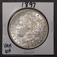 1897 MORGAN $1 SILVER DOLLAR - VAM 6A PITTED REVERSE Lot#B582