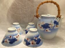 MARKED Fukagawa JAPANESE TEA POT &  CUP SET