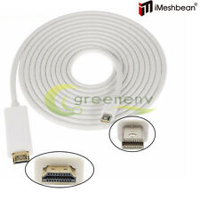 6FT Thunderbolt Mini Display Port DP To HDMI Adapter Cable for Apple MacBook
