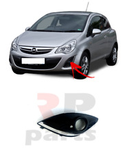 FOR VAUXHALL OPEL CORSA D 11-15 BUMPER GRILLE COVER FOG LIGHT CHROME LEFT N/S