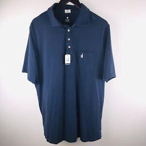Johnnie-O NWT Large Tall LT Navy Blue Polo Shirt