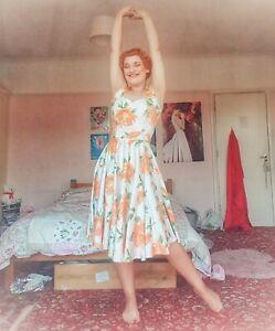 Vivien of Holloway Victory Rose 1950's Halterneck Dress, Size 12