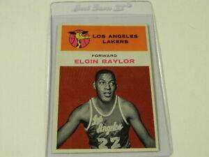 1961 FLEER Basketball #3 ELGIN BAYLOR Los Angelos Lakers - Scarce Rookie - HOF