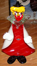 Antique Murano Clown Candy Dish (Ucagco, Made in Italy) Hand-Blown Glass