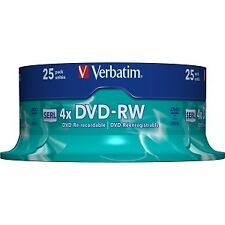 Verbatim DVD-RW 4.7gb/120min/4x Cakebox (25 Disc)