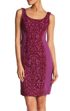Diane Von Furstenberg 'Geovana' ~ Purple Lace Panel Sheath Dress 4 NEW $398
