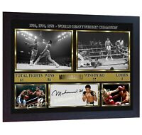 Boxer Muhammad Ali signed autographed Boxing photo print Cassius Clay Framed